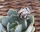 Jeweled Snail Ring