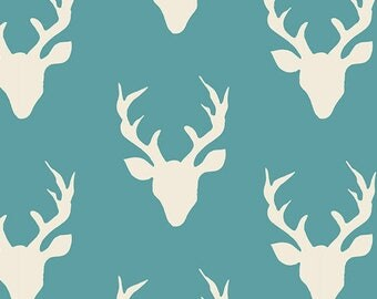 Hello Bear Buck Forest Lake Art Gallery Fabric