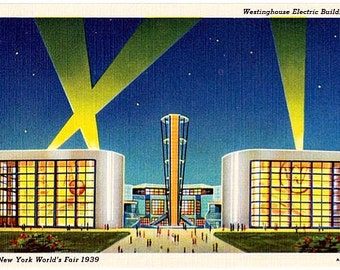 Vintage Postcard - 1939 New York World's Fair - Westinghouse Electric Building (Unused)