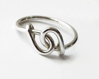 Entwined Ring - Solid Sterling - Love - Anniversary - Mother and Child - Wedding - Handfast - Highland Union - All Sizes