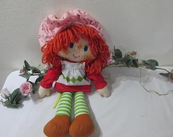 1980 Strawberry Shortcake Fabric 15 Inch Doll