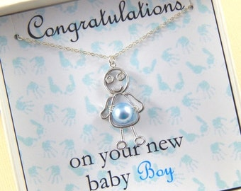 Christmas Sale Baby Boy Gift Boxed Necklace New Mother Gift Baby Shower Gift Christening Gift