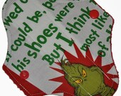 Liner Core- Grinch Reusable Cloth Petite Pad- 6.5 Inches