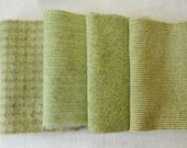 """Hand Dyed Wool Felt, Lemongrass Four 6"""" x 15-16"""" pieces, Perfect for Rug Hooking, Applique' and Crafting"""