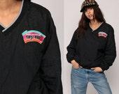 90s Windbreaker Jacket SAN ANTONIO SPURS Nba Jacket Pullover Jacket Sports Black V Neck Hipster Vintage 90s Athletic Track Extra Large xl
