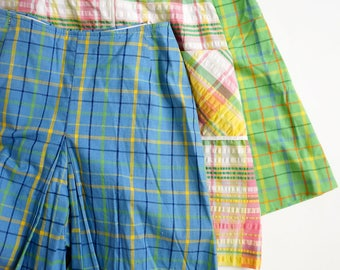 "Vintage 1960s Womens Size XXS Skort Gordon of California Frank Murphy Store / waist 24 length 19.5"" / Your Choice Blue or Green"