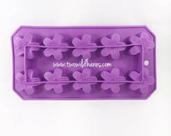 PLUM BLOSSOM Mini Mold, Silicone, 10 Cavity, 0.44oz  Cavities