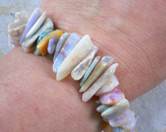 """8"""" Australian White Opal Beads Nuggets and Slices (opalb)"""