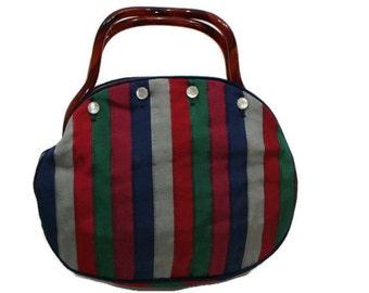 Vintage Multi Color Fabric Handbag Multi Coloured Handbags Vintage Fabric Handbags Cloth Handbags Ladies Vintage Handbags Multicolor Purse