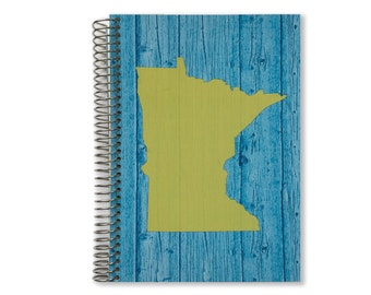 Notebook Planner | Pick Your State | Personalized Notebook | 2017-2018 Personalized Calendar Notebook | Custom Notebook