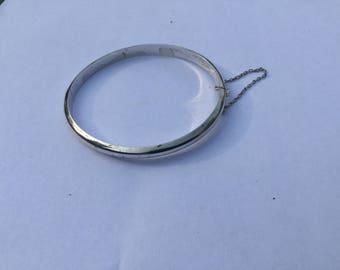 Vintage Sterling Silver Expansion Bangle Bracelet