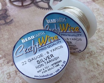 free uk postage Pro Quality Non Tarnish 22 Gauge Craft Wire by Beadsmith