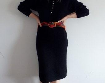 Womens Dresses Vintage Black Knit
