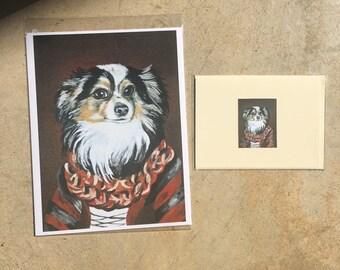 Spring Clearance prints Renaissance dog