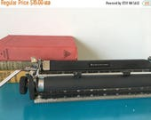 SPRING SALE Vintage Royal Aristocrat Typewriter Carriage Home Office Decor Steampunk