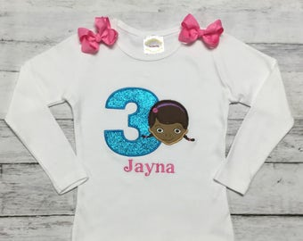DOC MCSTUFFINS PERSONALIZED 3RD Birthday Shirt Or Onesie 1st 2nd 3rd 4th 5th  Birthday Infant Toddler 1st Birthday