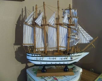 wood boat novelty  from eighties