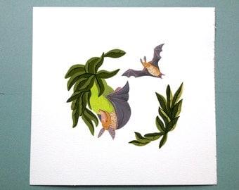 "Fruitbat ""Stellaluna""-esque Illustration Print"