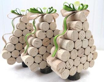 Wine Cork Mini Tabletop Christmas Tree