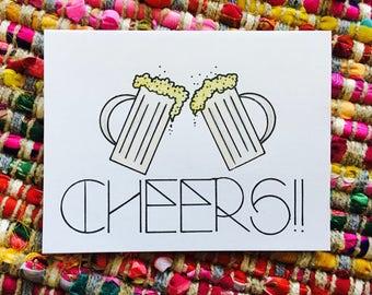 Beer Cheers Card (blank)