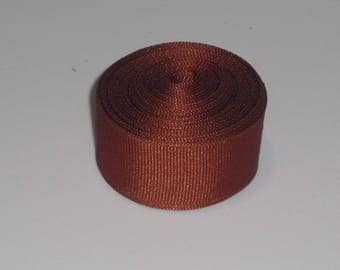 Burnt Orange 7/8 inch Solid Grosgrain Ribbon 10 yards