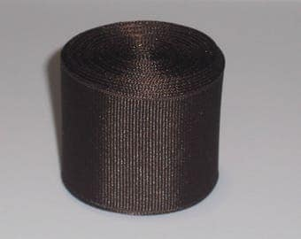 Brown 1.5 inch Solid Grosgrain Ribbon 10 Yards