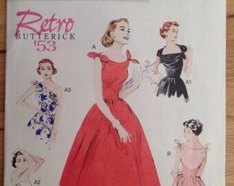 UNCUT Retro '53 Butterick 5708 Dress size 6-8-10-12-14