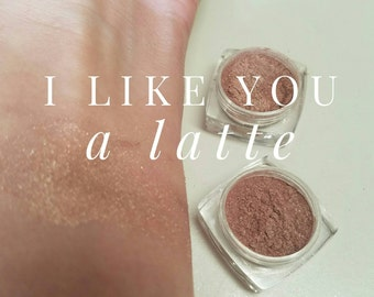 LIKE you LATTE Mineral Make up EYE Shimmer - Vegan Friendly, Sparkly Eye Shadow, Mica Powder 5ml Nude Sparkle with hint of brown Eye Shimmer