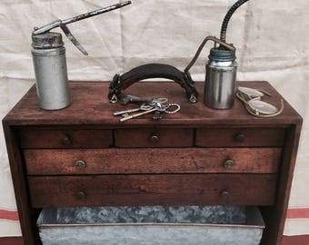 Vintage Restored Machinist Tool Chest/ Apothecary
