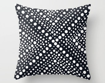 OUTDOOR Throw Pillow - Black and White Outdoor Pillow - Modern Geometric Patio Cushion - Outdoor Pillow 16 18 20 inch Outside Pillow
