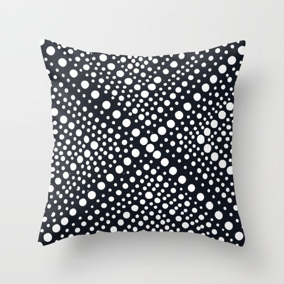 OUTDOOR Throw Pillow . Black and White Outdoor Pillow . Modern Geometric Patio Cushion . Outdoor Bolster Pillow 16 18 20 inch Outside Pillow