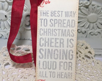Christmas Gift Tags..The Best Way to Spread Christmas Cheer Tags....Set of 10...SALE