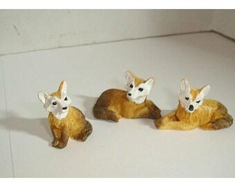 Fairy Garden Resin Foxes/ Set of 3*/Minis/Supplies*