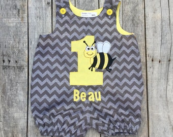 First Bee-Day Bubble Romper