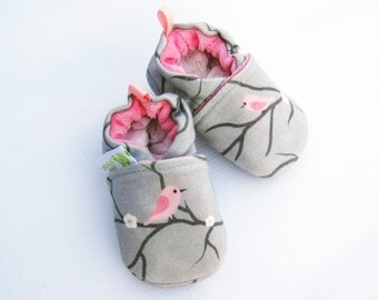 Organic Knits Vegan Starling in Pink / All Fabric Soft Sole Baby Shoes / Babies