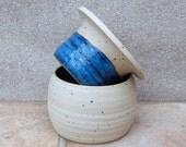 French butter dish beurrier keeper crock hand thrown stoneware ceramic pottery handmade wheelthrown