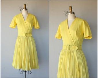 1960s Anne Fogarty Dress | 60s Linen Dress | 1960s Day Dress | 60s Dress | Vintage Wrap Dress (medium)