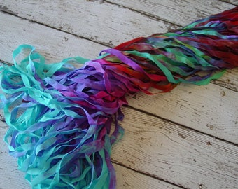 Hand Dyed Ribbon - NeW - LOST POND quarter inch wide ribbon, 5 yards