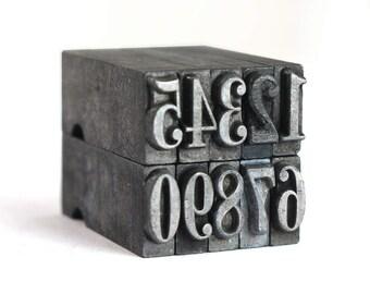 NUMBERS - 24pt Metal Letterpress