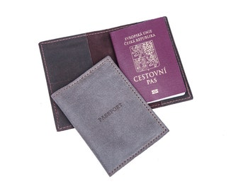 Gifts for him , Gift For Business Travelers, Leather Passport Cover , Passport Holder , Passport Case, Leather Gifts, Man Accessories