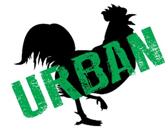 URBAN CHICKEN - Great Illustrated T-Shirt for Chicken Lovers!