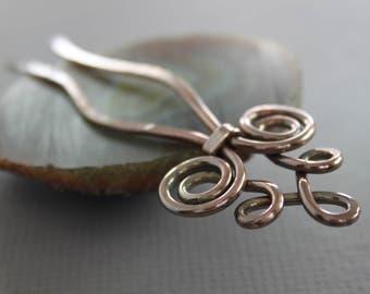 Metal Celtic knot hair fork pin - Hair fork - Celtic hair fork - Hair accessory - Metal hair pin - HP023