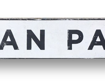 Inman Park block letters neighborhood sign 37 x 7