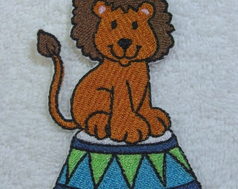 Circus Lion Embroidered Iron on Applique Patch Ready to Ship