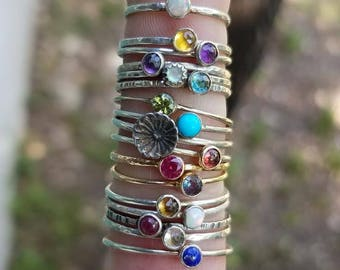 Prototype, Sample, and Slightly Imperfect Rings Sale! Ready to Ship Gemstone and Birthstone Rings in Sterling Silver or 14k Gold.