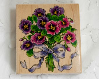 Penny Black Pansy Bouquet 1998