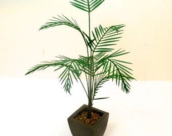 LASER CUT PALM in brown pot handmade dolls house miniature  conservatory plant 12th dollhouse