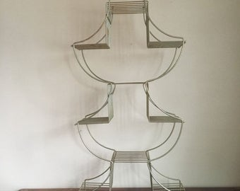 Holiday Sale. Mid Century Tall Metal Plant Stand