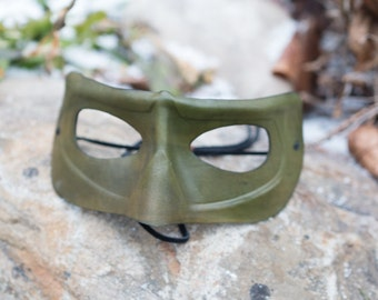 Clearance - Green Leather Mask