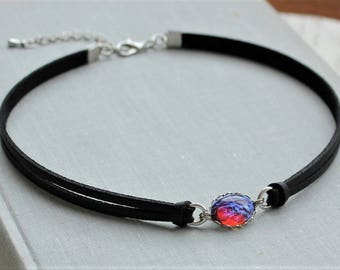 Dragons Breath Leather Choker and/or Bracelet